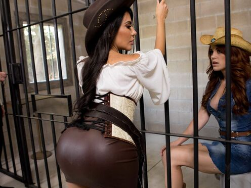 Чтобы не скучать в тюрьме, роскошные телочки вылизывают друг другу мокрые киски